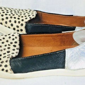 Elk 6.5 slip on cowhair/leather women's loafers. M